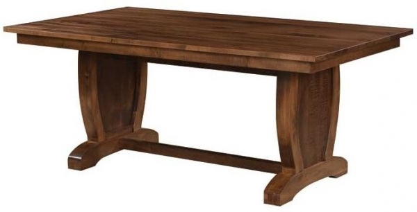 Trendy Laurent Hardwood Trestle Dining Table – Countryside Amish Furniture Inside Laurent Rectangle Dining Tables (View 11 of 20)