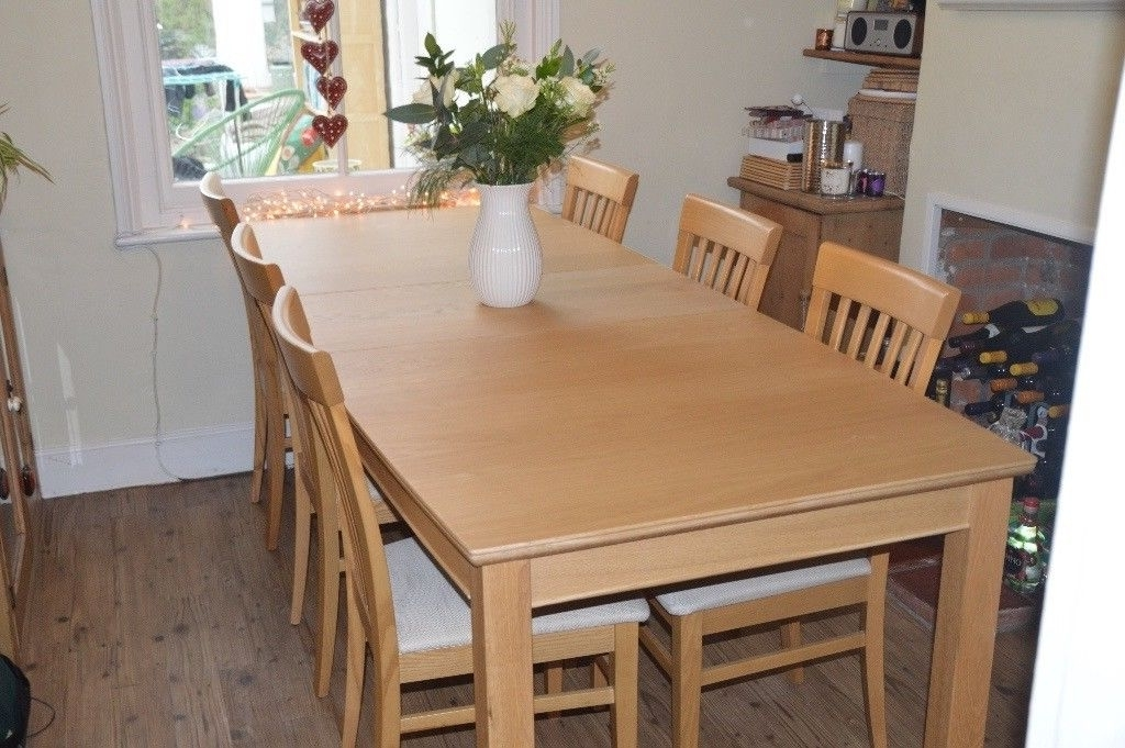 Trendy Light Oak Dining Table And 6 Chairs From John Lewis  Immaculate Within Light Oak Dining Tables And 6 Chairs (View 19 of 20)