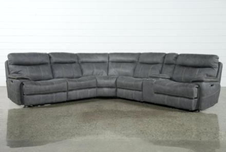 Trendy Living Spaces Leather Sectional – Implantologiabogota (View 9 of 15)