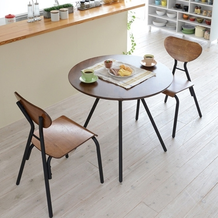 Trendy Livingut: Table Chair 3 Piece Set Cafe Vintage Dining Table (Iron Regarding Dining Tables And Chairs For Two (View 19 of 20)