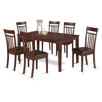 Trendy Market 7 Piece Dining Sets With Host And Side Chairs In Charlton Home Smyrna 7 Piece Dining Set In  (View 15 of 20)