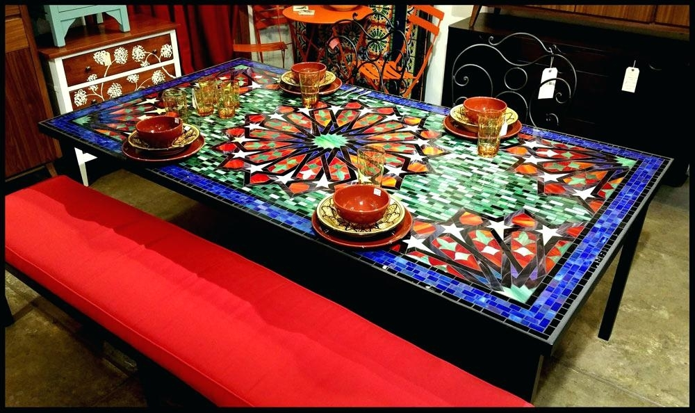 Trendy Mosaic Dining Tables For Sale Inside Mosaic Dining Table – Travelward (View 9 of 20)