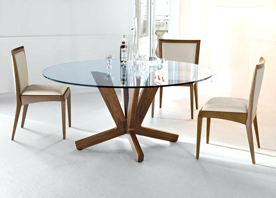 Trendy Oak Glass Top Dining Tables Throughout Round Oak And Glass Dining Table 19 Elegant Glass Top Round Dining (View 17 of 20)