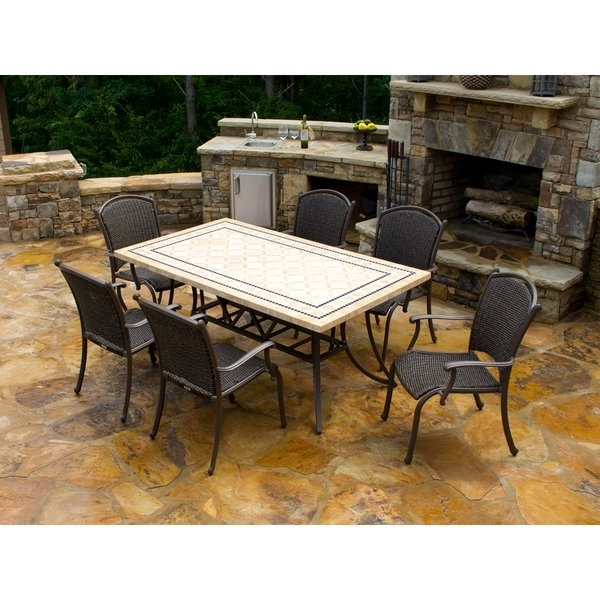 Trendy Outdoor Tortuga Dining Tables Inside Shop Tortuga Outdoor Marquesas 7 Piece Dining Set – Free Shipping (View 4 of 20)