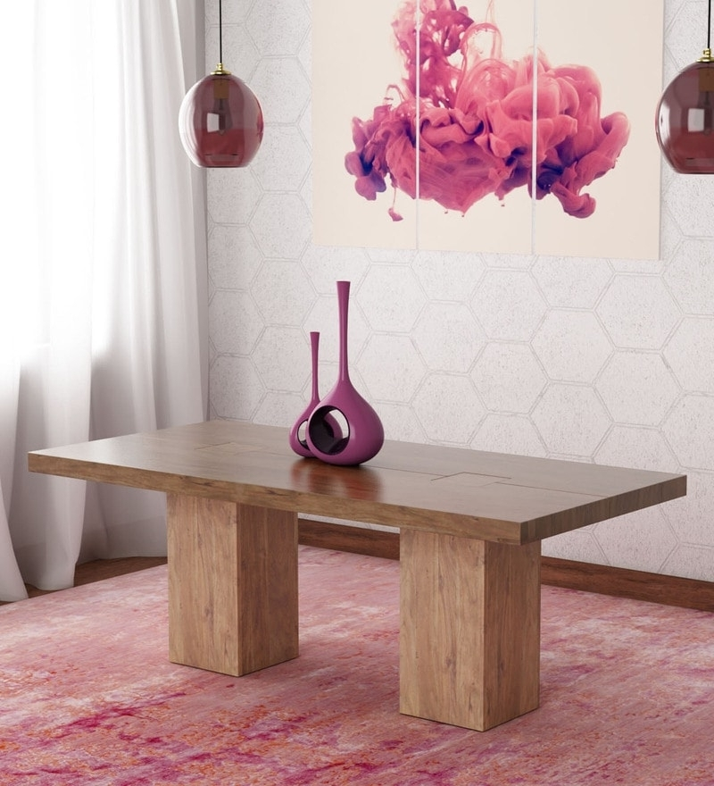 Trendy Portland 78 Inch Dining Tables Within Buy Portland Solid Wood Six Seater Dining Table In Premium Acacia (View 17 of 20)