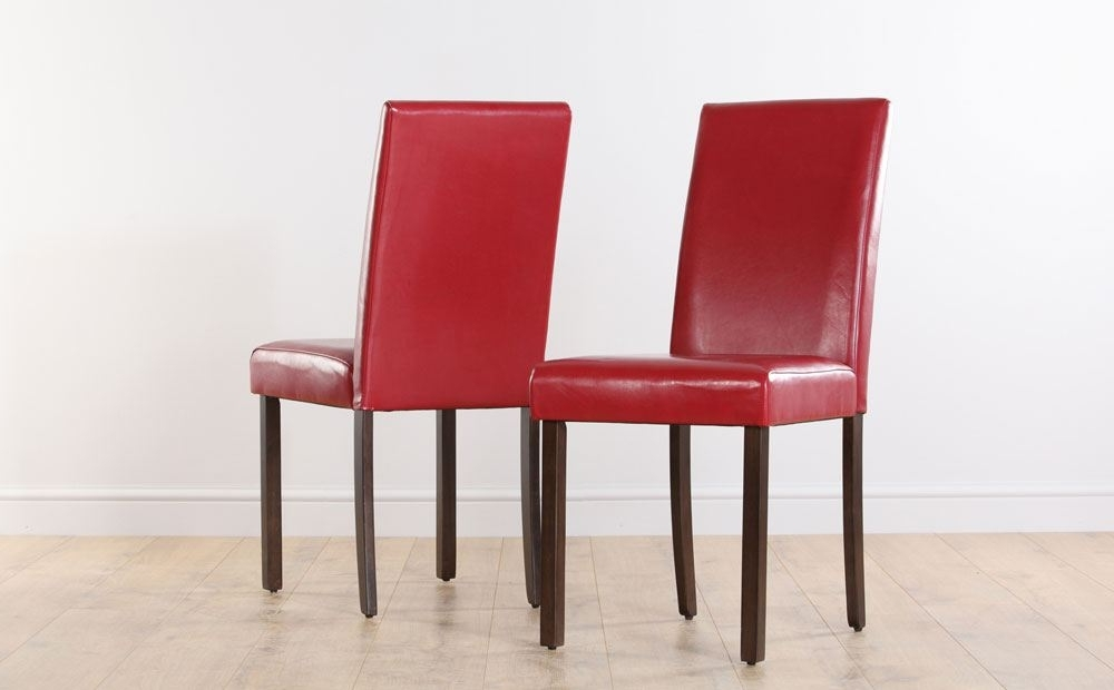 Trendy Red Leather Dining Room Chairs (View 15 of 20)
