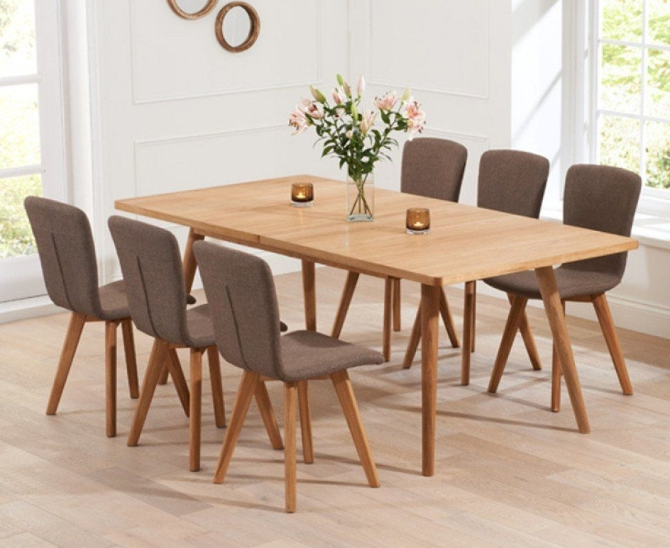 Trendy Retro Extending Dining Tables With Tivoli 150Cm Retro Oak Extending Dining Table And Chairs (View 18 of 20)