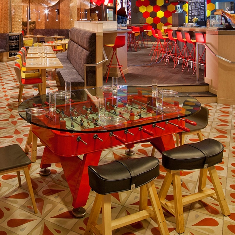 Trendy Rs Fdto Red, Rs Barcelona Dining Foosball Table Pertaining To Barcelona Dining Tables (View 19 of 20)