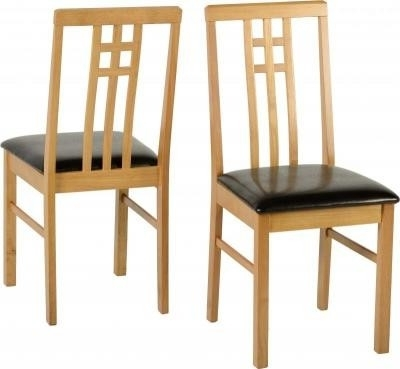 Trendy Seconique Vienna Medium Oak Dining Chair – Dining Chairs And Benches Throughout Oak Dining Chairs (View 18 of 20)