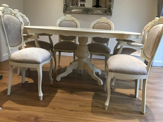 Trendy Shabby Chic Cream Dining Tables And Chairs Intended For Shabby Chic Table And Chairs – Local Classifieds, Buy And Sell In (View 16 of 20)