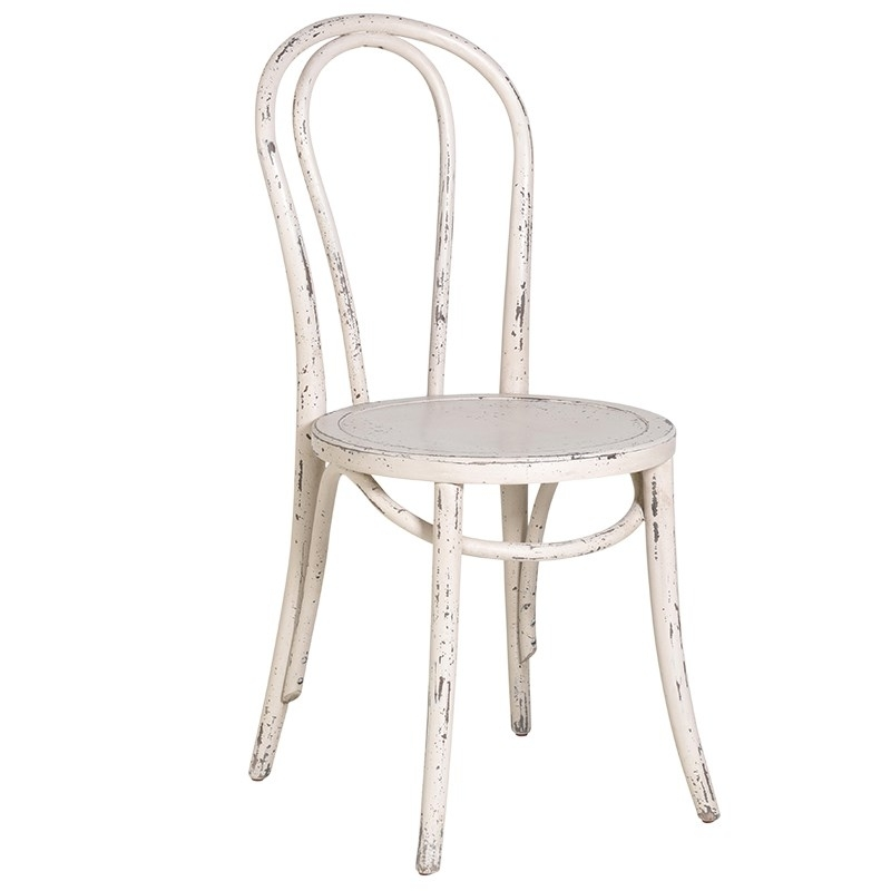 Trendy Shabby Chic Dining Chairs Intended For Cream Loop Back Shabby Chic Dining Chair – Mulberry Moon (View 5 of 20)