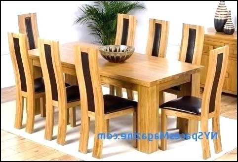 Trendy Solid Oak Dining Tables And 8 Chairs Intended For  (View 19 of 20)