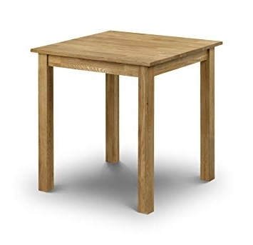 Trendy Square Oak Dining Tables Within Julian Bowen Coxmoor Solid Oak Square Dining Table, Oak: Amazon (View 17 of 20)