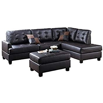 Trendy Tenny Dark Grey 2 Piece Left Facing Chaise Sectionals With 2 Headrest Regarding Leather Chaise Sofas – Home And Textiles (View 4 of 15)