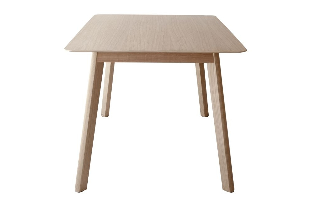 Trendy Transalpina Dining Table, Non Extendable Super Matt Oak, 140Cm Throughout Non Wood Dining Tables (View 16 of 20)