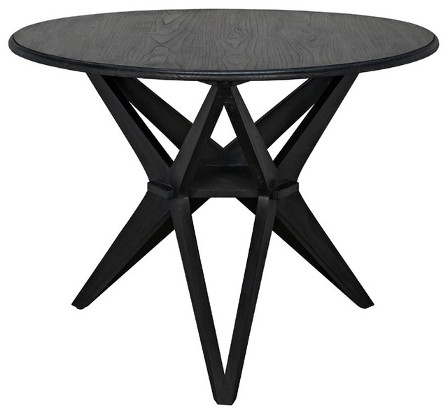 Trendy Victor Dining Tables With Noir Furniture Victor Dining Table, Charcoal Black – Midcentury (View 11 of 20)