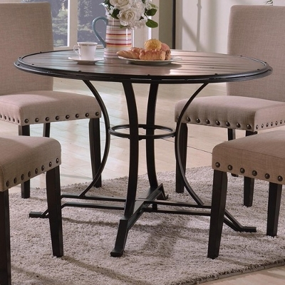 Trendy Wyatt Dining Tables Pertaining To Crown Mark Dining Tables Wyatt 1260t 45 Dft (round) From Laskey's (View 7 of 20)