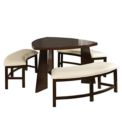 Triangle Dining Table: Amazon With Regard To Famous Carly 3 Piece Triangle Dining Sets (View 17 of 20)