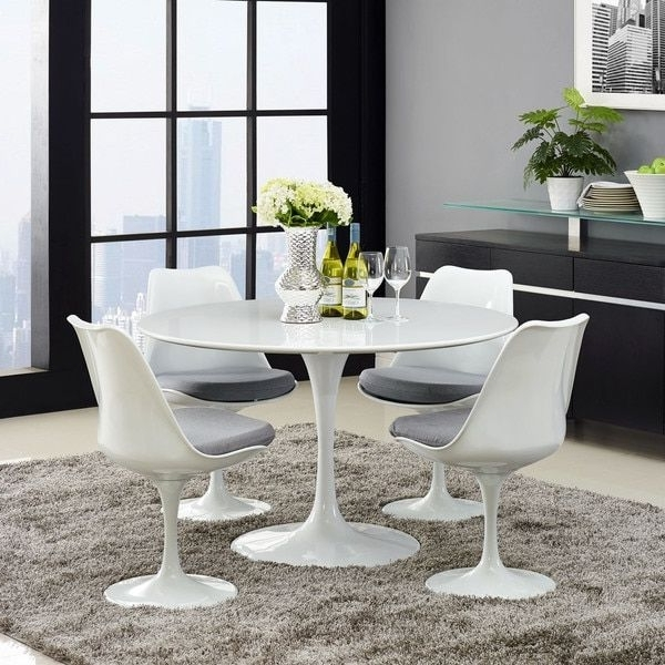 Tulips Flowers, Dining Throughout Palazzo 7 Piece Dining Sets With Pearson White Side Chairs (View 18 of 20)