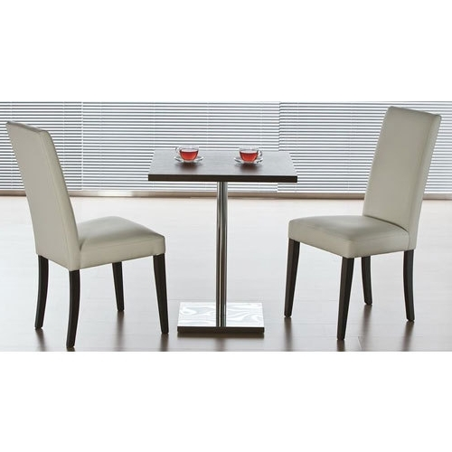 Two Seater Dining Tables In Trendy Wooden, Glass Two Seater Stainless Steel Dining Table, Shape (View 15 of 20)