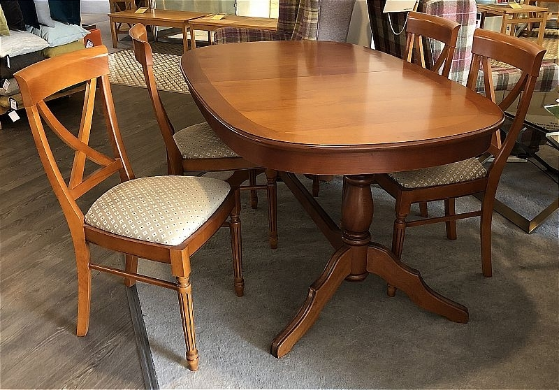 Vale Furnishers Cork Medium Oval Extending Dining Table And 4 Cross With Regard To Favorite Cork Dining Tables (View 18 of 20)