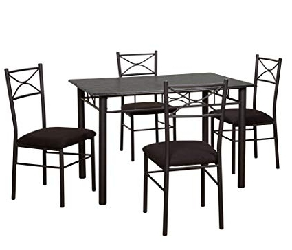 Valencia 4 Piece Counter Sets With Bench & Counterstool For Recent Amazon – Target Marketing Systems 5 Piece Valencia Dining Set (Gallery 1 of 20)