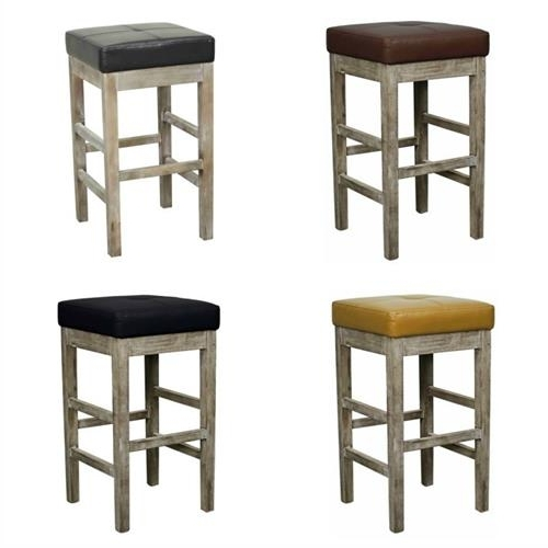 Valencia 4 Piece Counter Sets With Bench & Counterstool Inside Famous Valencia Square Backless Counter Stool Mystique Gray Legs (Gallery 4 of 20)
