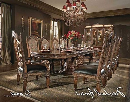 Valencia 5 Piece 60 Inch Round Dining Sets Inside Fashionable Amazon – Aico Villa Valencia Casual Dining Room Set With Dining (View 15 of 20)