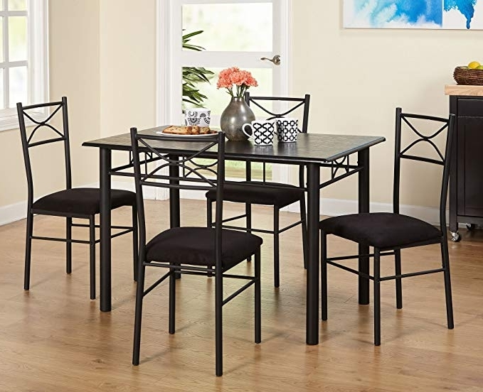 Valencia 5 Piece Round Dining Sets With Uph Seat Side Chairs Intended For Well Known Amazon – Target Marketing Systems 5 Piece Valencia Dining Set (Gallery 7 of 20)