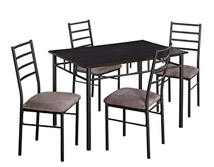 Valencia 72 Inch 6 Piece Dining Sets For Fashionable Amazon – Target Marketing Systems Liv Collection Contemporary  (View 12 of 20)