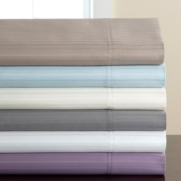 Valencia 72 Inch 6 Piece Dining Sets Throughout Favorite Shop 800 Thread Count Valencia Stripe Cotton Rich 6 Piece Sheet Set (View 13 of 20)