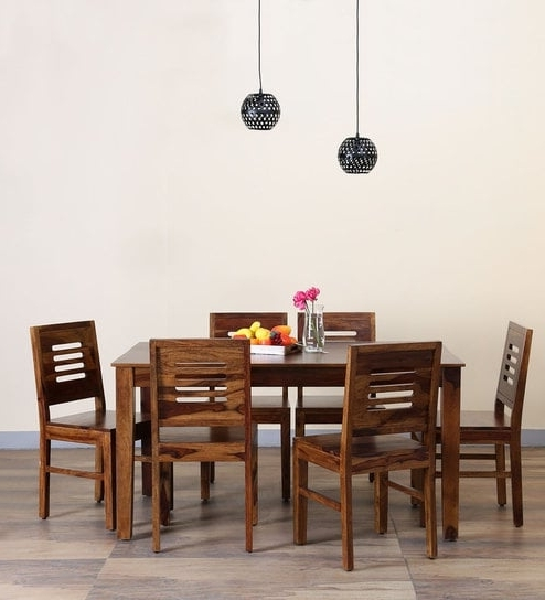 Valencia 72 Inch 7 Piece Dining Sets In Most Recent Buy Valencia Six Seater Dining Set In Provincial Teak Finish (View 11 of 20)