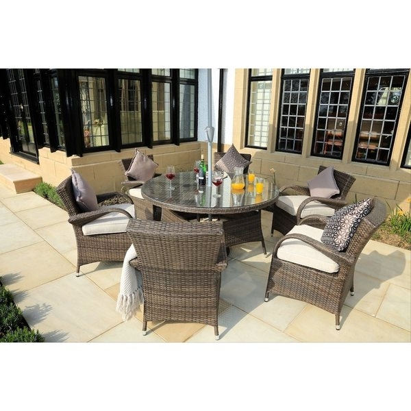Valencia 72 Inch 7 Piece Dining Sets Regarding Best And Newest Shop Direct Wicker Eton Chair 7 Piece Rattan Dining Set – On Sale (View 13 of 20)