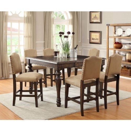 Valencia 72 Inch 7 Piece Dining Sets Regarding Recent Easy Top Garrett Counter Height Dining Set 7 Pc – Emilynormanglqd (View 15 of 20)
