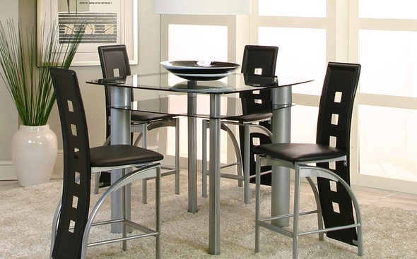 Valencia Table + 4 Chairs 92780 Cramco Counter Height Dining Sets Pertaining To Famous Valencia 4 Piece Counter Sets With Bench & Counterstool (View 20 of 20)