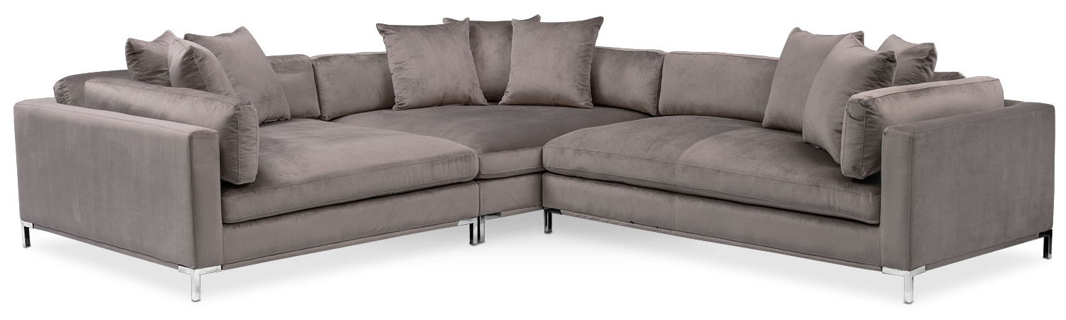 Featured Photo of Nico Grey Sectionals With Left Facing Storage Chaise