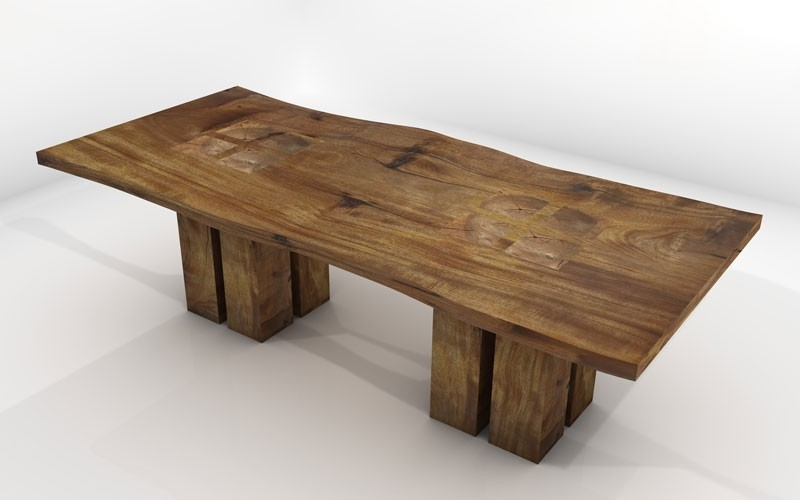 Vela Dining Table – Sustainable Solid Wood Dining Room Furniture In Well Known Solid Wood Dining Tables (View 16 of 20)