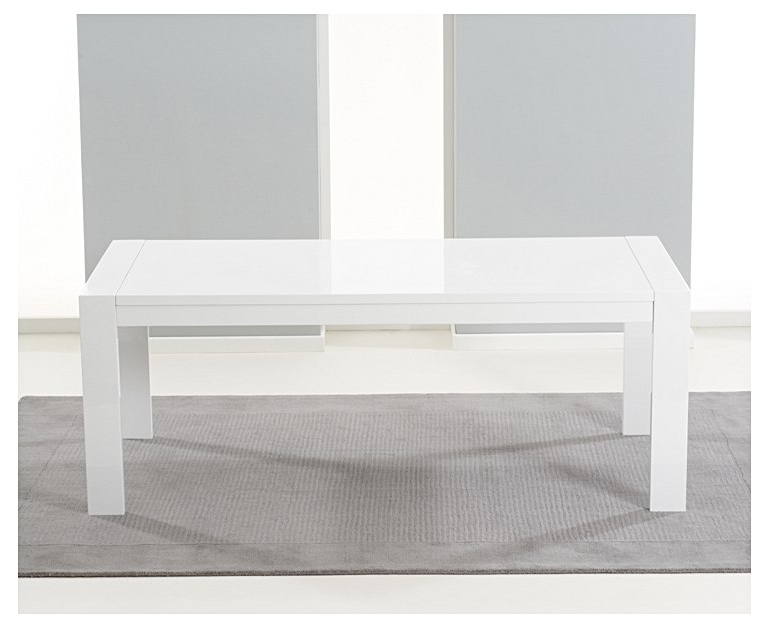 Venice 200Cm White High Gloss Extending Dining Table Pertaining To Well Liked White Gloss Extending Dining Tables (View 13 of 20)