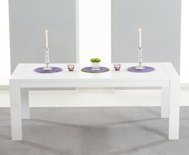 Venice 200Cm White High Gloss Extending Dining Table Within Well Known Extending Gloss Dining Tables (View 18 of 20)