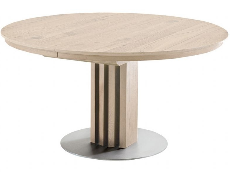 Venjakob Alfio 120Cm Round Extending Dining Table – Lee Longlands In Most Recent Extending Dining Tables (Gallery 9 of 20)