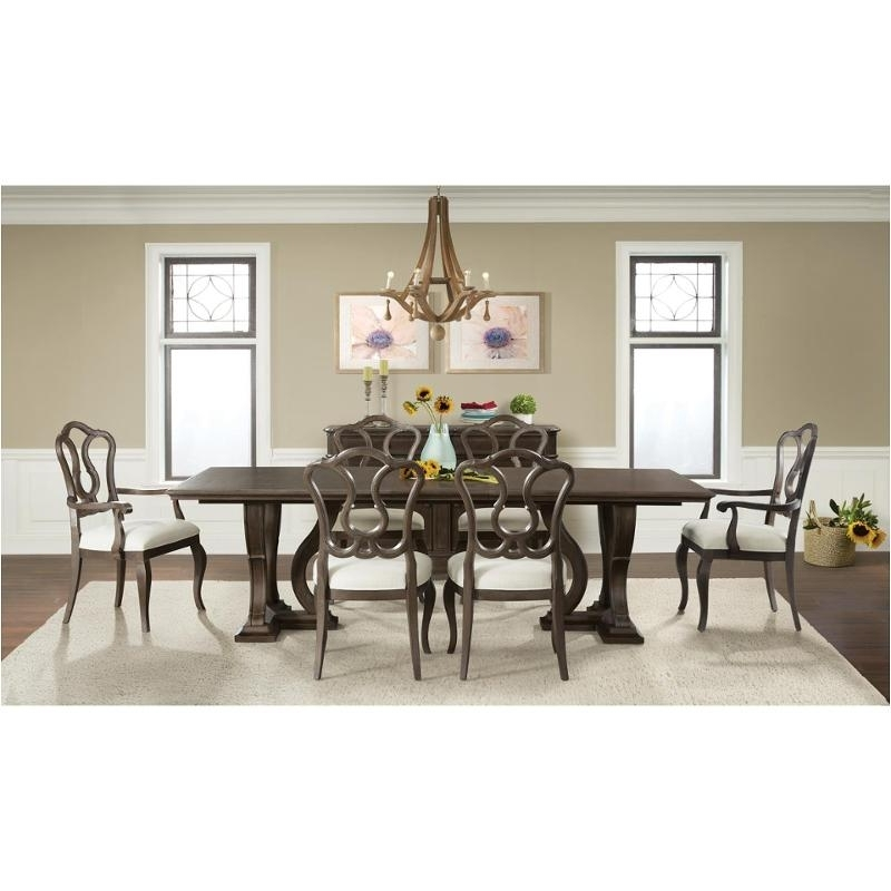 Verona Dining Tables In Latest 24950 Riverside Furniture Verona Dark Sienna Trestle Dining Table (View 11 of 20)