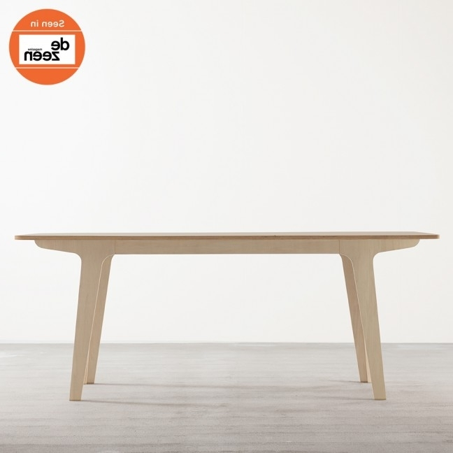 Victor Dining Tables With 2018 Victor Dining Table In Ply + White – Tables – Joined + Jointed (View 15 of 20)