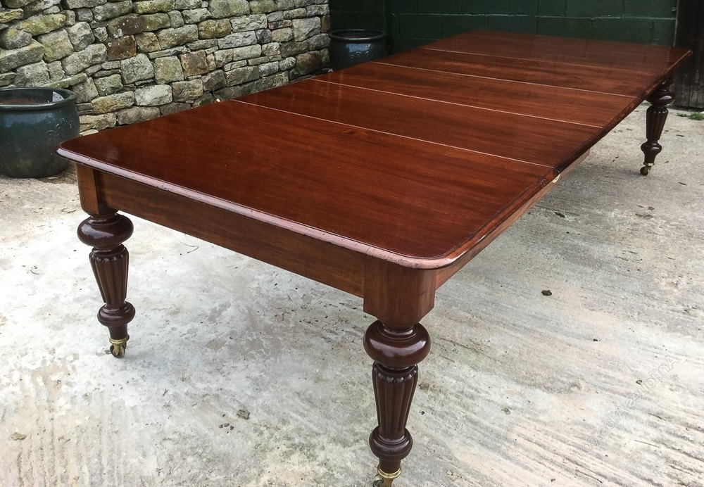 Victorian Mahogany Extending Dining Table 3 Leaves – Antiques Atlas Regarding Most Recently Released Mahogany Extending Dining Tables (Gallery 14 of 20)