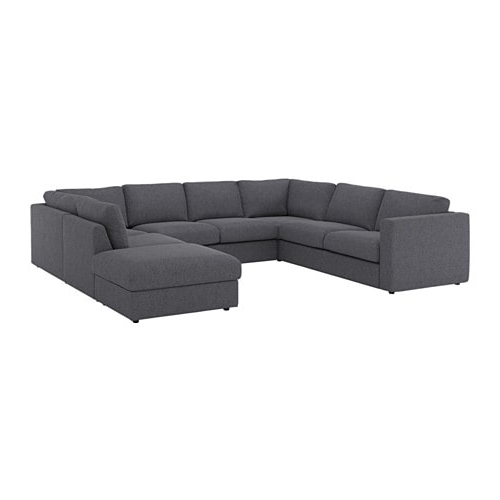 Vimle Sectional, 6 Seat – With Open End/gunnared Medium Gray – Ikea Regarding Well Known Norfolk Grey 6 Piece Sectionals (View 1 of 15)