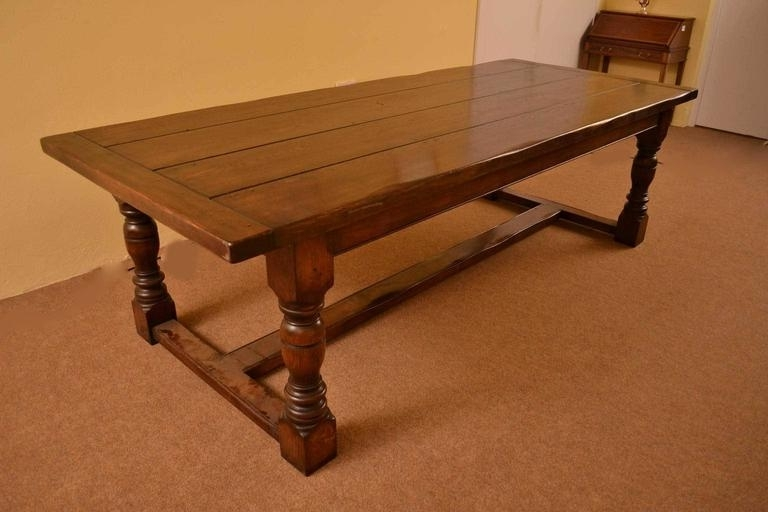 Vintage English Solid Oak Refectory Dining Table 8 Ft 6 X 3Ft At 1Stdibs With Regard To Well Liked 3Ft Dining Tables (View 18 of 20)