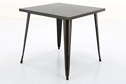 Vogue Dining Tables Pertaining To Preferred Amazon: Vogue Furniture Direct Square Metal Bar/dining Table (View 16 of 20)