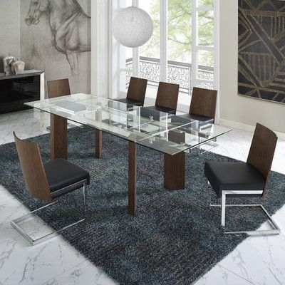 Wade Logan Victoria 6 Piece Dining Set Upholstery Color: Black In Trendy Logan 6 Piece Dining Sets (View 19 of 20)