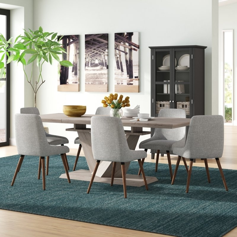 Walden 7 Piece Extension Dining Sets In Popular Simmers 7 Piece Dining Set (View 13 of 20)