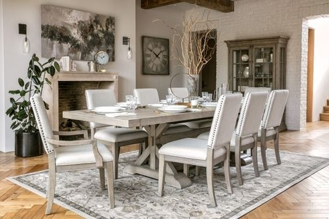 Walden 9 Piece Extension Dining Sets Pertaining To Well Known Walden 9 Piece Extension Dining Set (View 17 of 20)