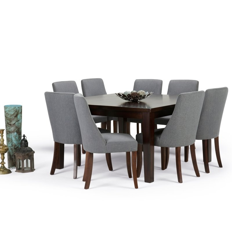 Walden Extension Dining Tables Within Most Popular Simpli Home Walden 9 Piece Dining Set (View 15 of 20)